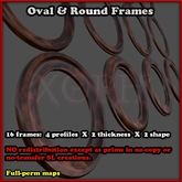 Sculpted Frames - Oval and Round Basic Frame Sculpties (sculpty frame for picture)