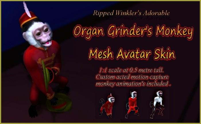 Mesh Monkey Avatar skin : Organ Grinders edition