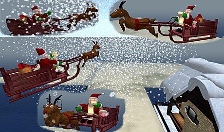Prim De Noel Second Life Marketplace   traineaux du pere noel avec animation