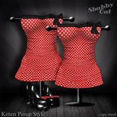 ~Kitten Pinup Style (red) - Shabby Cat~