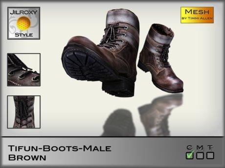 JILROXY Tifun Boots Male - Brown - Mesh