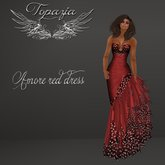 TOPAZIA- amore red dress
