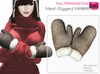 %50SUMMERSALE Full Perm Mesh Rigged Mittens HM / Winter Gloves