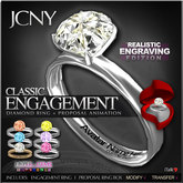JCNY - 'Classic ENGAGEMENT Ring, Engraving Edition w/ Proposal