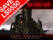 *PROMO BUNDLE - SAVE L$5550 * Skye Gothic Castle - One of SL's finest prefab castles  tagGoth, tagFantasy