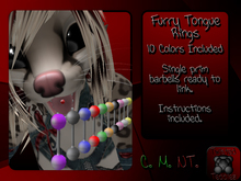 {T.t} Furry Tongue Rings