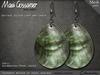Mesh Earrings - Shell - Teardrop - Pearl Green