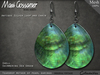 Mesh Earrings - Shell - Teardrop - Sea Green