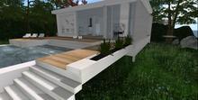 Designer Prims Urban Retro Prefab, House, Home, Loft