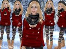 "☆★PROMO★☆-{   VIRTUE MOCHA   }- ""It's Snowing Outside!"" - Red"