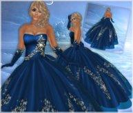 !BH~  Elegant Lady in Blue Gown