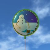 Balloon - Animated Snowman