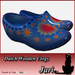 *JariCat* Dutch Wooden Clogs Blue