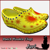 *JariCat* Dutch Wooden Clogs Yellow