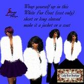 160 White Fur Coat