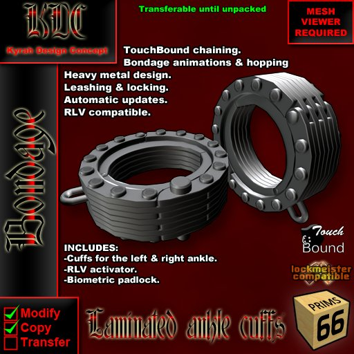 KDC Laminated Ankle Cuffs