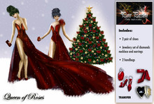 """Valentines dress """"Queen of Roses"""" Perfect red gown for Valentine´s day!"""