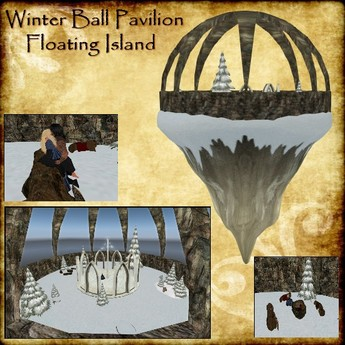 Winter Ball Floating Snow Island ~Animations~ Christmas Dance Pavilion