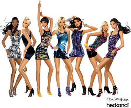 Hed Kandi 7Girls Poses(7 Poses)
