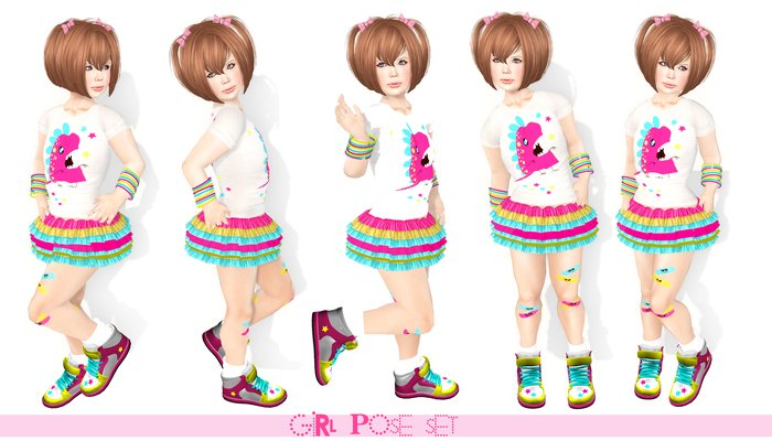 {mimi}.:: Girl pose set 01-05 ::.