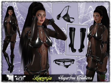 **SD**XX Extreme Havenja Outfit ( Black Latex Suit )