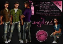 AngelRED - FULL PERM Legacy Mens Shirt Template