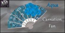 Aqua Carnation Fan