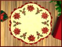 Round Poinsettia Rug