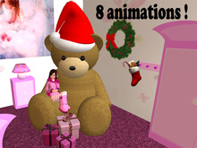 Cute Teddy with 8 cuddle animations/poses (xmas edition)