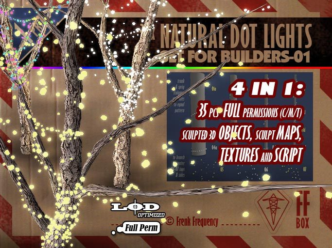 [FFBox] 35x Natural Dot Lights Set-01 {Full Perm} for Builders