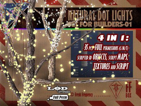 [FFBox] 35x Natural Dot Lights Set-01 {Full Perm} for Builders