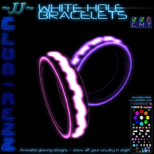 ~JJ~ Club~Rezz Bracelets - White Hole