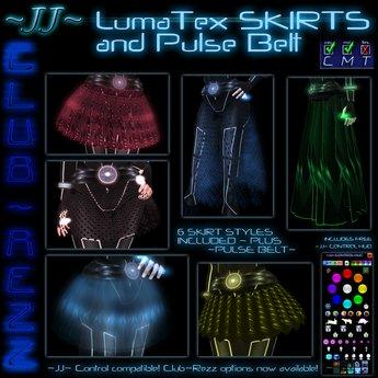 ~JJ~ Club~Rezz LumaTex Skirts and Pulse Belt