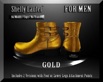 ::: Shelly Laufer Men's Leather Boots [AG Gold] :::
