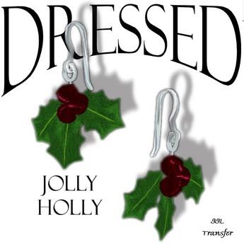 Jolly Holly Earrings~ Promo