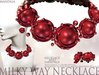 (70%OFF SALE)[MANDALA]MILKY WAY2 NECKLACE/Hawthorn RED