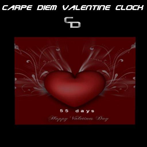 Carpe Diem Valentine Countdown Clock