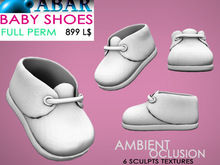 ABAR - SH015 BABY SHOES / CHILD / KID - sculpt - AMBIENT OCLUSION  - Full Perm