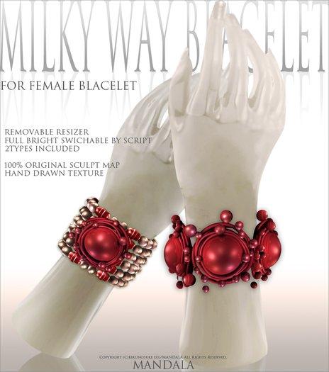 (70%OFF SALE)[MANDALA]MILKY WAY BRACELET/Hawthorn RED