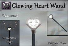 Glowing Heart Wand with Sparkle Magic - Diamond
