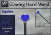Glowing Heart Wand with Sparkle Magic - Sapphire