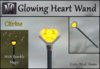 Glowing Heart Wand with Sparkle Magic - Citrine