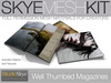 PROMO Skye MESH Kit - Well Thumbed Magazine Full Perms 2 prim