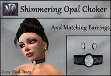 Shimmering Opal Choker & Matching Earrings