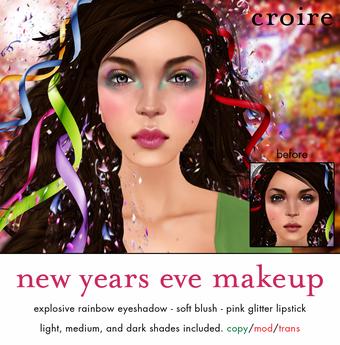 [croire] New Years Eve Makeup Set (eyeshadow, blush, lipstick)