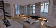 Designer Prims Heritage Skybox, Prefab, House, furnished