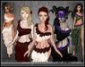 [Wishbox] Aphrodisia I & II (Megapack) - Five Colors! Belly Dance Dancer Medieval Fantasy Goddess Dress Silks