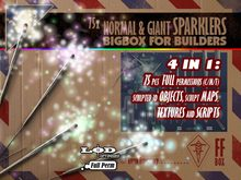 [FFBox] 75x Normal & Giant Sparklers BigBox {Full Perm} for Builders