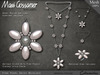 Necklace - Pearl Daisies - Silver Necklace with Pink Pearl Flowers