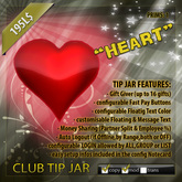 Club TIPJAR Heart BOXED mod copy lot features